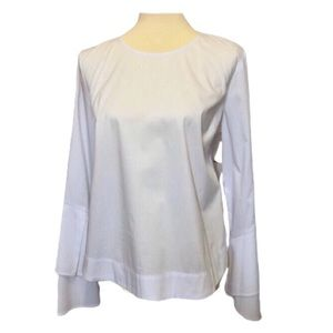 NWT Leith White blouse Bell Sleeves Large
